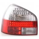 Zadní čirá světla Audi A3 8L 96-03 LED, červená/krystal