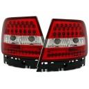 Zadní čirá světla Audi A4 B5 95-01 LED, červená/krystal