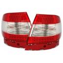 Zadní světla Audi A4 B5 95-01 LED, červená/krystal