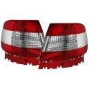 Čirá světla Audi A4 B5 95-01 - červená/krystal