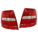 Čirá světla Audi A4 B5 95-01 Lim. červená/bílá