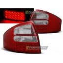 Zadní čirá světla Audi A6 97-04 - LED, červená/krystal