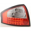 Zadní světla Audi A6 97-04 - LED, červená/krystal