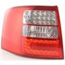 Čirá světla Audi A6 Avant 4B 97-05 - LED, červená/krystal