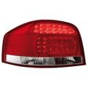Čirá světla Audi A3 8P 03-09 – LED, červená/krystal