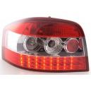 Zadní čirá světla Audi A3 8P 03-09 – LED, červená/krystal