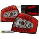 Čirá světla Audi A4 8E Lim. 01-04 - LED, červená/krystal