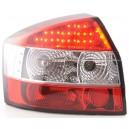 Zadní světla Audi A4 8E Lim. 01-04 - LED, červená/krystal