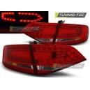 Čirá světla Audi A4 B8 8K Lim. 07-11 LED, červená/krystal