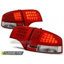 Čirá světla Audi A4 B7 Lim. 04-08 LED, červená/krystal