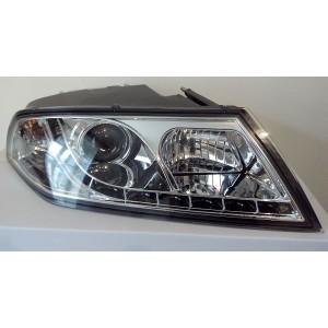 Přední světla DEVIL EYES Škoda Octavia 2 04-09 – chrom