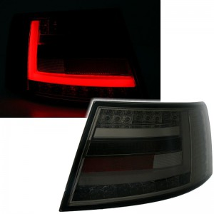 Zadní čirá optika Audi A6 C6 4F 04-08 LIGHT BAR LED, kouřová