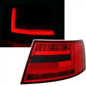 Zadní čirá optika Audi A6 C6 4F 04-08 LIGHT BAR LED, červená/kouřová