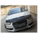 Audi A4 S4 B8 (11-15) potah kapoty CARBON stříbrný