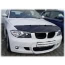 BMW E87 1er (04-11) potah kapoty CARBON stříbrný