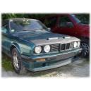 BMW E30 3er (82-90) potah kapoty CARBON stříbrný