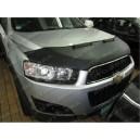 Chevrolet Captiva (2011+) potah kapoty CARBON stříbrný