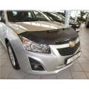 Chevrolet Cruze (2009+) potah kapoty CARBON stříbrný