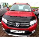 Dacia Sandero (2012+) potah kapoty CARBON stříbrný