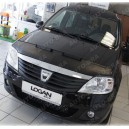 Dacia Logan (04-12) potah kapoty CARBON stříbrný