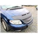Dodge Caravan (01-07) potah kapoty CARBON stříbrný