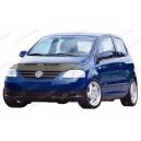 VW FOX (05-11) potah kapoty CARBON stříbrný