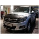 VW Tiguan 1 (07-15) potah kapoty CARBON stříbrný