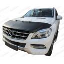 Mercedes Benz GLE ML W166 (11-15) potah kapoty CARBON stříbrný
