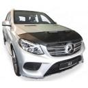 Mercedes Benz GLE ML W166 (15-18) potah kapoty CARBON stříbrný