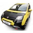 Fiat Panda (2011+) potah kapoty CARBON stříbrný