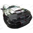 Ford Mustang GT (10-14) potah kapoty CARBON stříbrný
