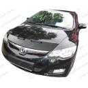 Honda Civic US Asia Hybrid (05-11) potah kapoty CARBON stříbrný