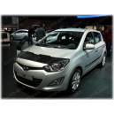 Hyundai i20 PB (08-14) potah kapoty CARBON stříbrný