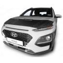 Hyundai Kona (2017+) potah kapoty CARBON stříbrný
