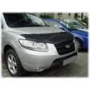 Hyundai Santa Fe (06-12) potah kapoty CARBON stříbrný