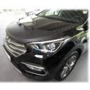 Hyundai Santa Fe (12-18) potah kapoty CARBON stříbrný