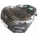 Hyundai Tucson (2015+) potah kapoty CARBON černý