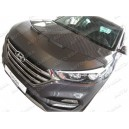 Hyundai Tucson (2015+) potah kapoty CARBON stříbrný