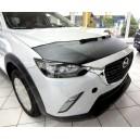 Mazda CX-3 (2015+) potah kapoty CARBON stříbrný