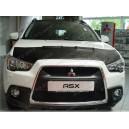 Mitsubishi ASX (2010+) potah kapoty CARBON stříbrný