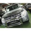 Mitsubishi Pajero 4 (2006+) potah kapoty CARBON stříbrný