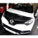 Renault Captur (2013+) potah kapoty CARBON stříbrný