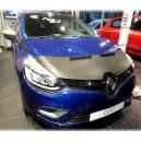 Renault Clio 4 (2012+) potah kapoty CARBON stříbrný