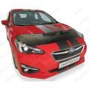 Subaru Impreza (2017+) potah kapoty CARBON stříbrný