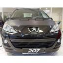 Peugeot 207 + CC (06-15) potah kapoty CARBON černý