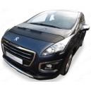 Peugeot 3008 (09-16) potah kapoty CARBON černý