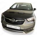 Opel Crossland X (2017+) potah kapoty CARBON stříbrný