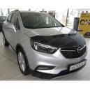 Opel Mokka X (2016+) potah kapoty CARBON stříbrný