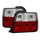 Čirá světla BMW E36 Compact 92-98 – červená/krystal