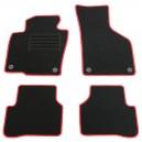 VW Passat 3C / B6 + B7 / VW Passat CC Lim. 07-14 autokoberce černé, s červeným lemováním